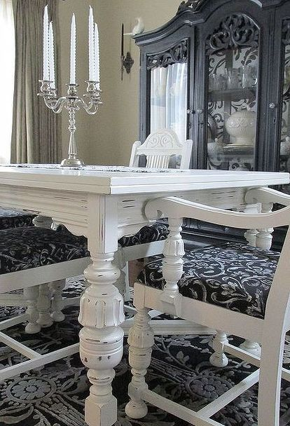 Diy 1920 S Vintage Table Chairs Redo Vintage Dining Table