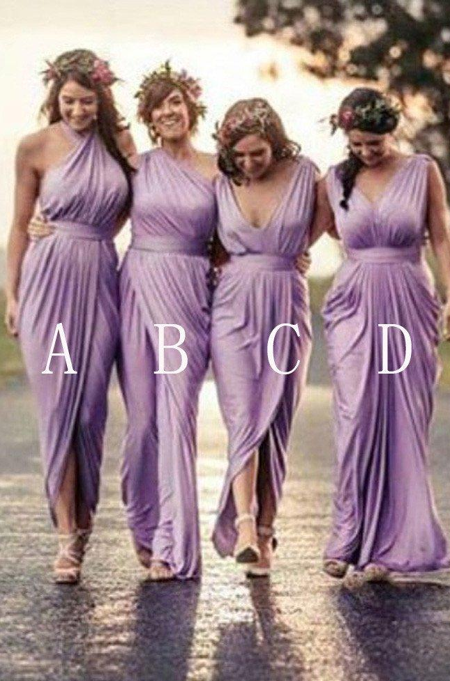 Sleeveless Bridesmaid Dress A Line Pleated Split Leg Wedding Guest ...