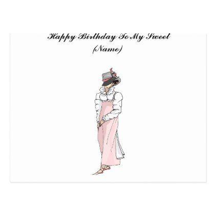 Happy Birthday To My Sweet Aunt Postcard Birthday Cards