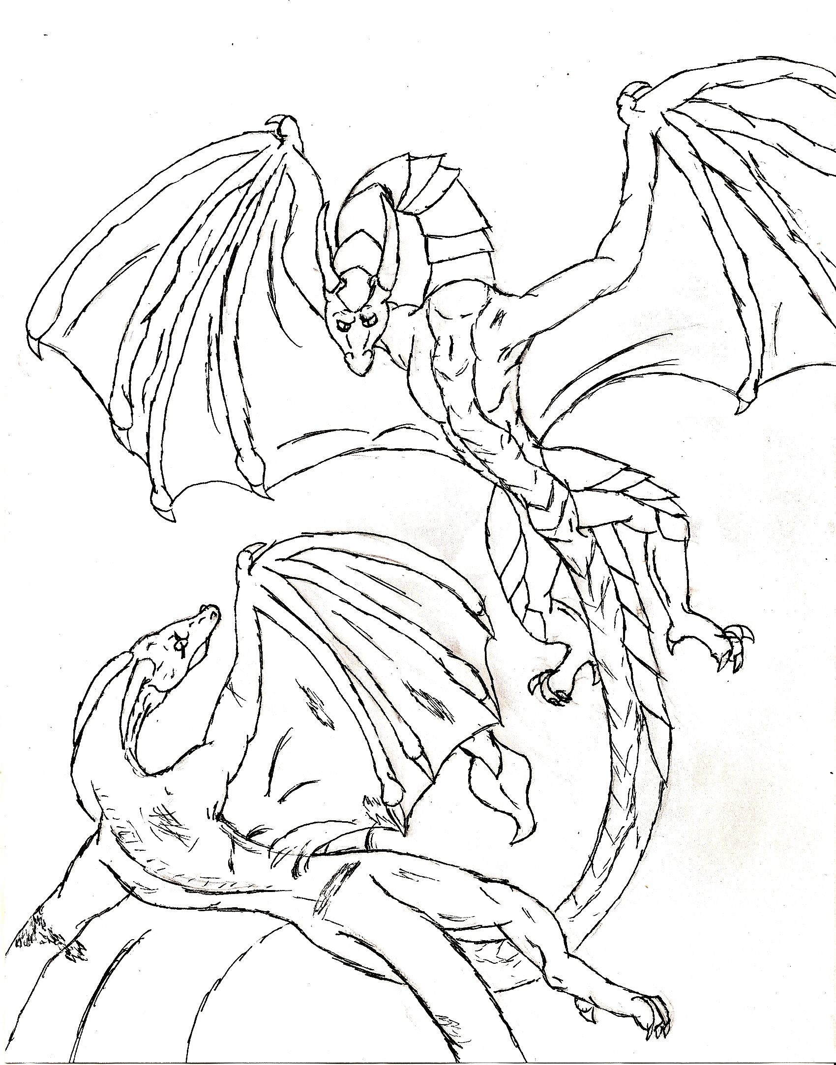 Dragon Fight Coloring Pages For Kids Printable Dragons