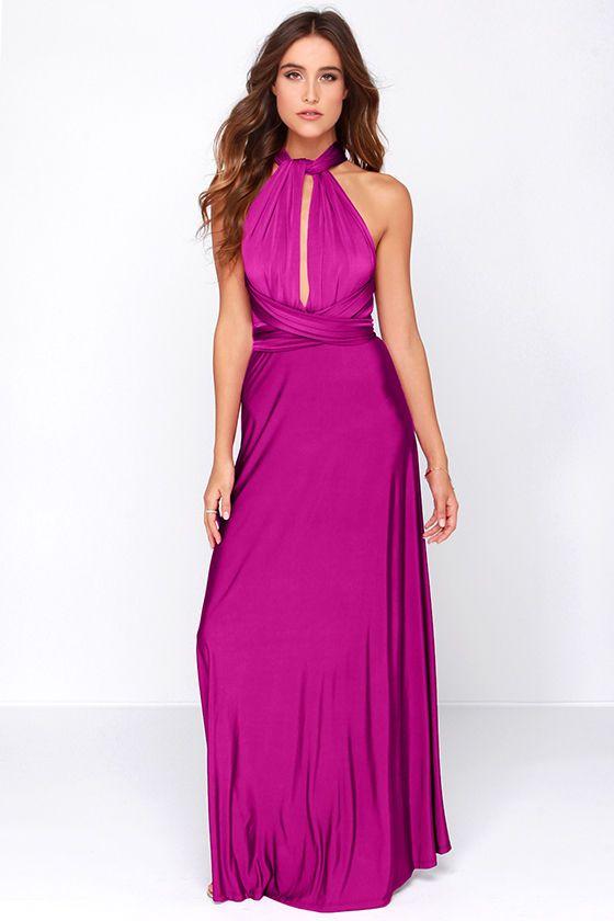 0f509bdc429 Always Stunning Convertible Magenta Maxi Dress at Lulus.com!