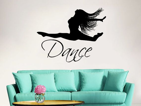 Dance Wall Decal Vinyl Sticker Decals Ballet Dancing Ballerina Acrobatics  Gymnastics Wall Decal Quote Wall Decor