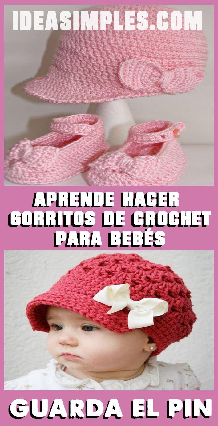 Aprende hacer gorritos de crochet para bebés paso a paso #vestidosparabebédeganchillo