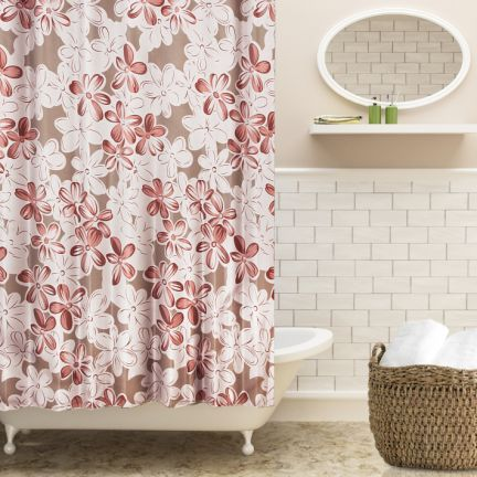 Freelance Floral Shower Curtain White And Maroon And Brown White Shower Curtain Brown Shower Curtain Green Shower Curtains