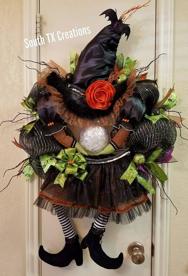 Witch Wreath, Halloween Wreath,Crystal Ball Wreath,Witch Decor - witch decorations