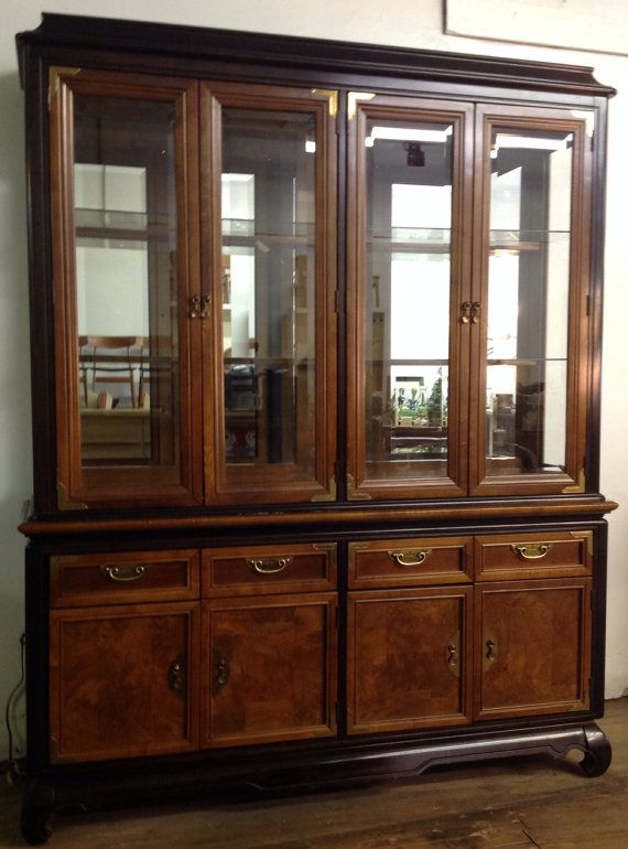 Broyhill China Cabinet In The Style Of Chin Hua By ModOnMain