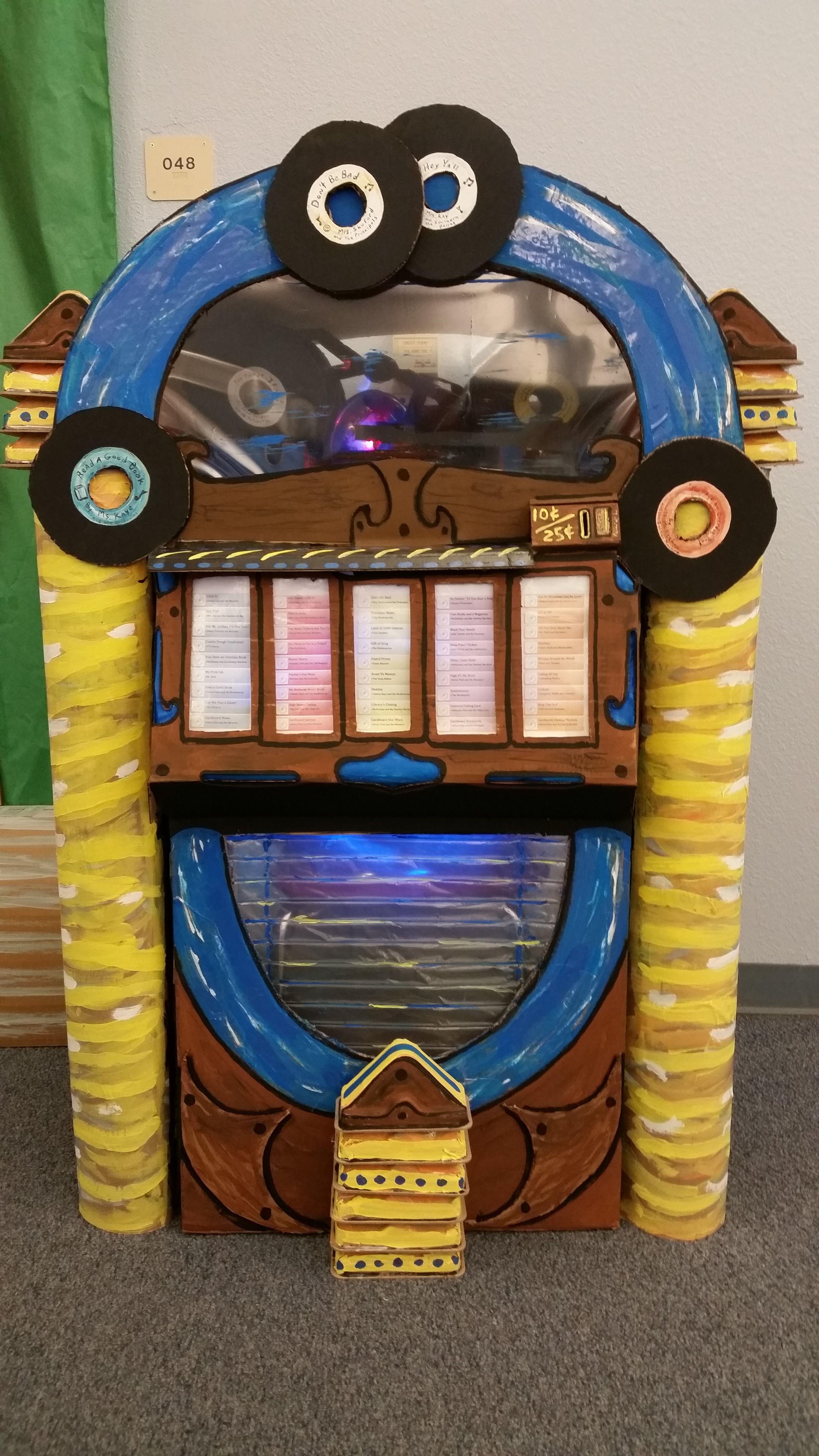 My Cardboard Jukebox!!   50th birthday themes, 70s party ...