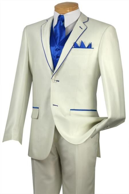blue and white tux | SKU#QJJ33 Tuxedo Royal Blue Trim Microfiber ...