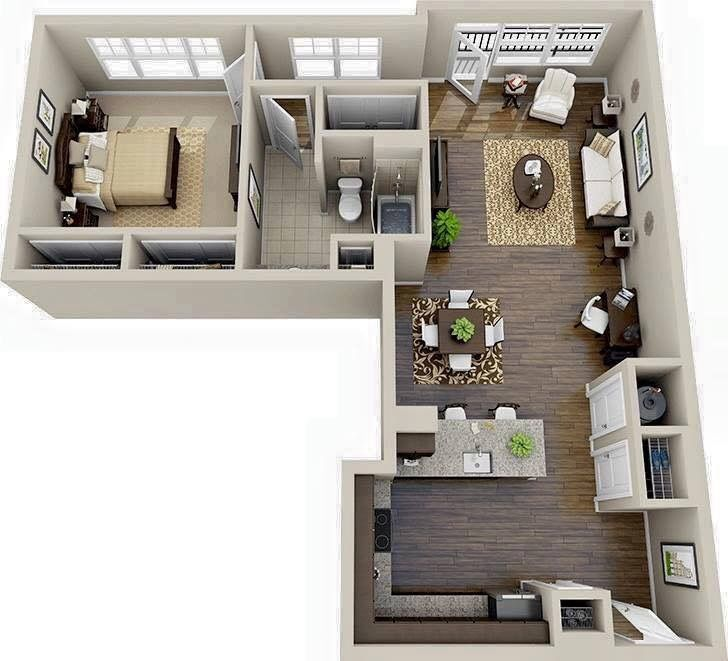 Dream Apartment This L Shaped Offers A Spacious Kitchen And Breakfast Bar Lots Of Windows Large Closets In The Bed Bath