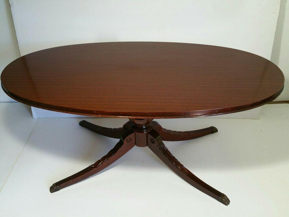 Read Desc Vintage Mersman 7376 Oval Mahogany Coffee Table Duncan Phyfe Style Mersman Mahogany Coffee Table Square Teak Coffee Table Coffee Table Vintage