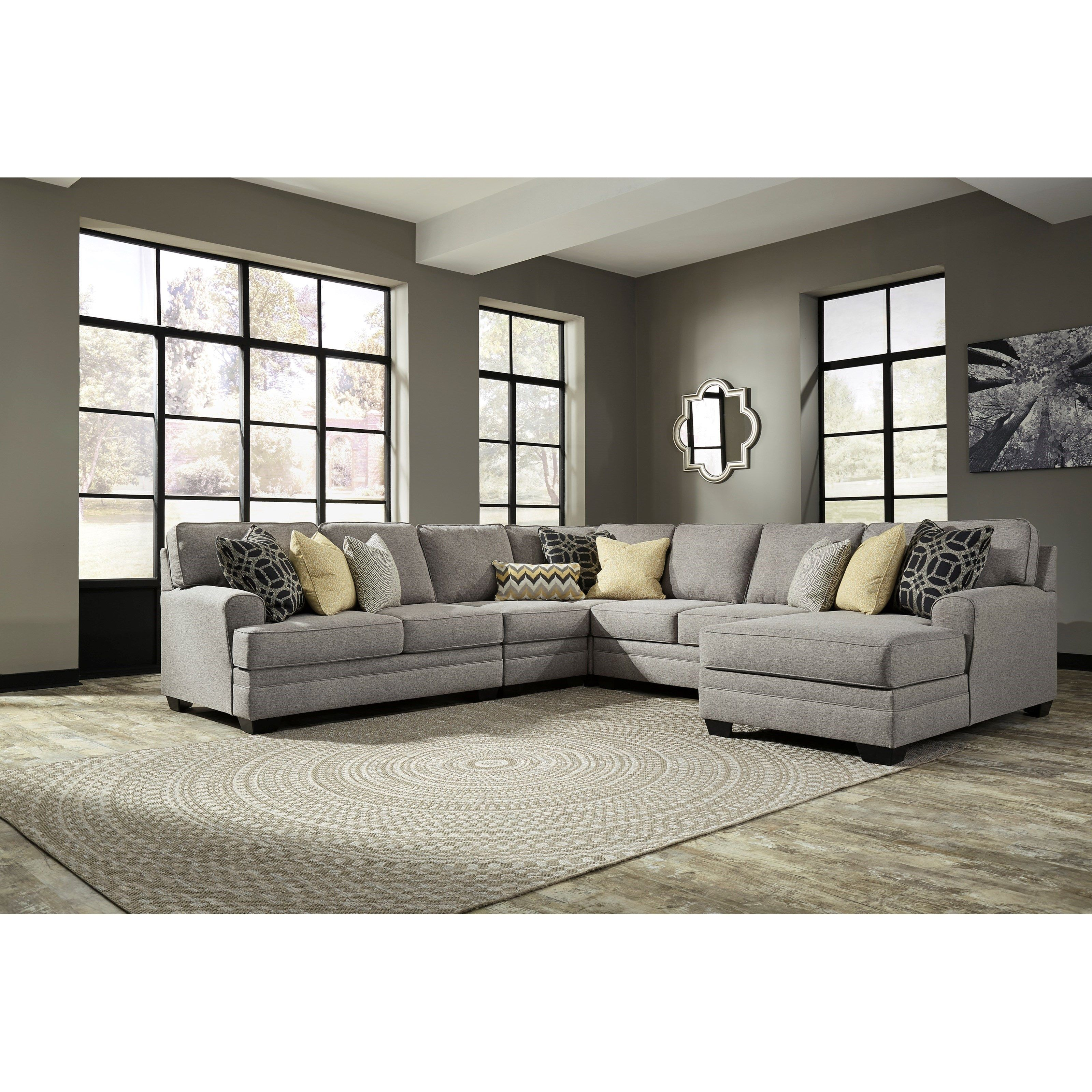 Cresson 5 Piece Sectional With Chaise By Benchcraft Living Room