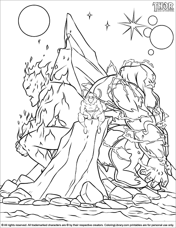 Thor coloring page | Coloring Pages | Pinterest