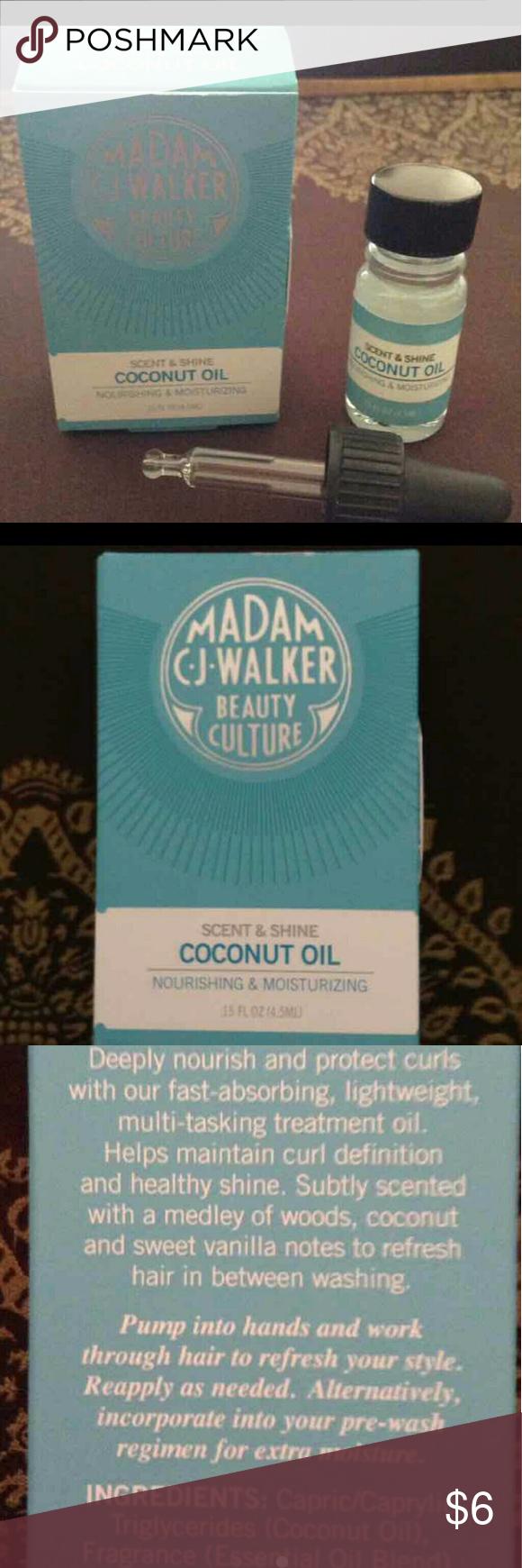 Madam CJ Walker Coconut Hair Oil Madam CJ Walker Beauty