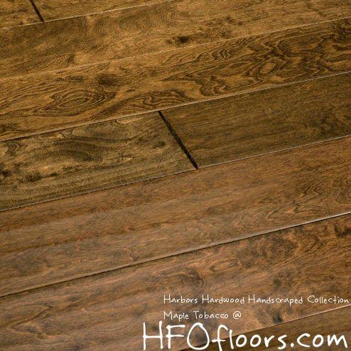 Harbors Hardwoods Hand Scraped Collection Maple Tobacco Hardwood Engineered Hardwood Engineered Hardwood Flooring