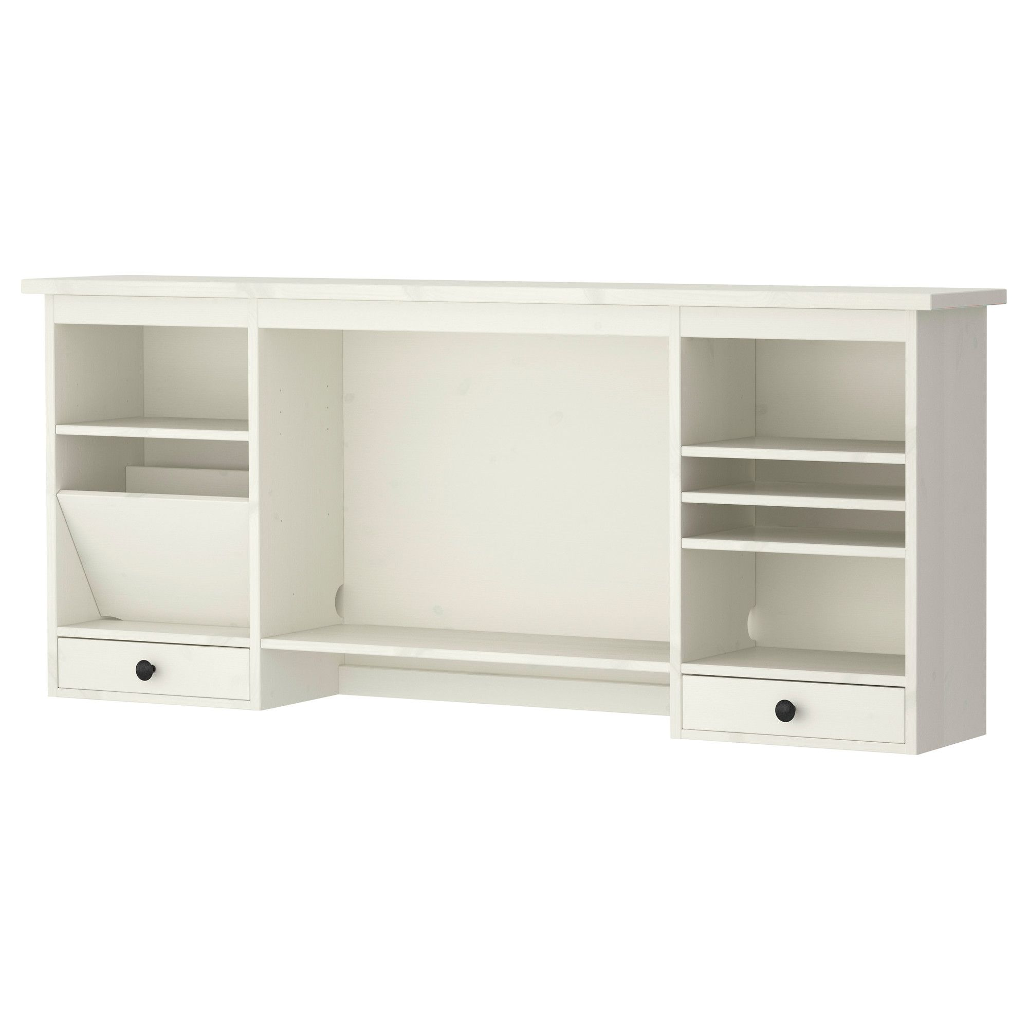HEMNES Add-on unit for desk, white stain in 2018 | Ikea office ...