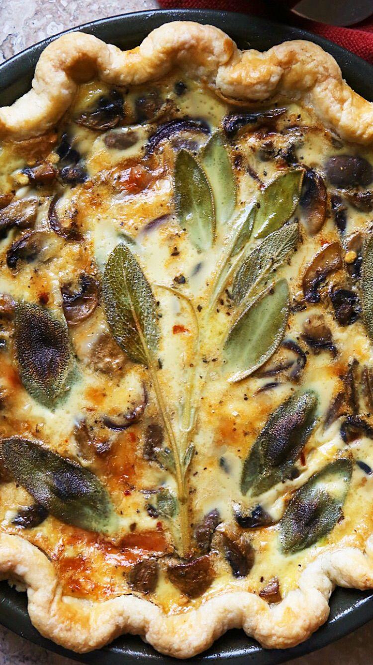 Mushroom And Sage Quiche Supper With Michelle Stuffed Mushrooms Quiche Food Processor Recipes