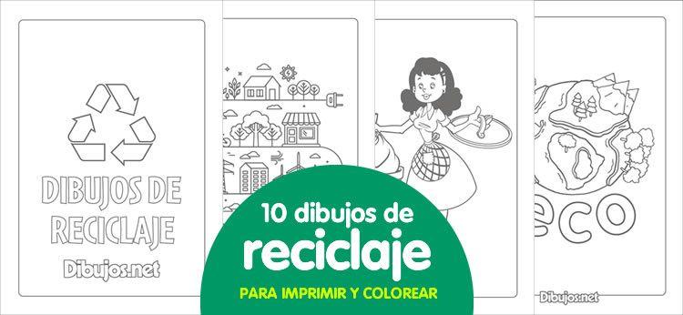 10 Dibujos De Reciclaje Para Imprimir Y Colorear Fichas Reciclaje Ninos
