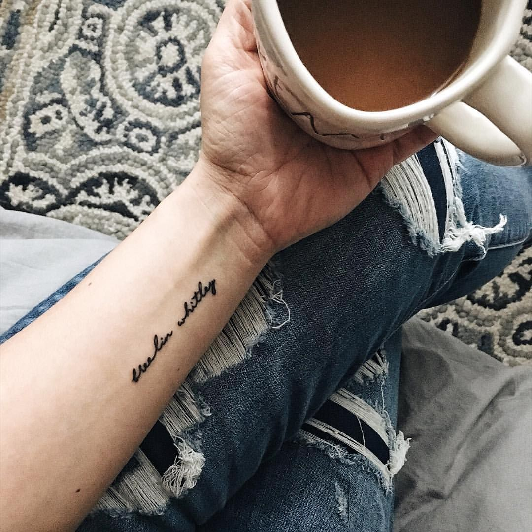 Small script name tattoo , Breelin Whitley