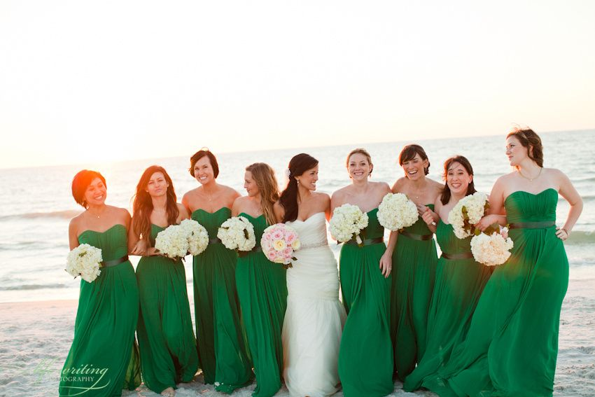 Wedding Party Portraits Noelle Michael 509 Beach Bridesmaid Dresses Emerald Green Bridesmaid Dresses Bridesmaid
