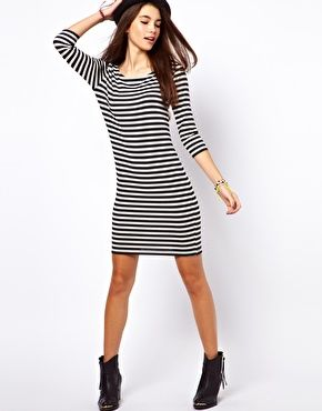 Image 4 ofOnly Stripe T Shirt Dress $30.55
