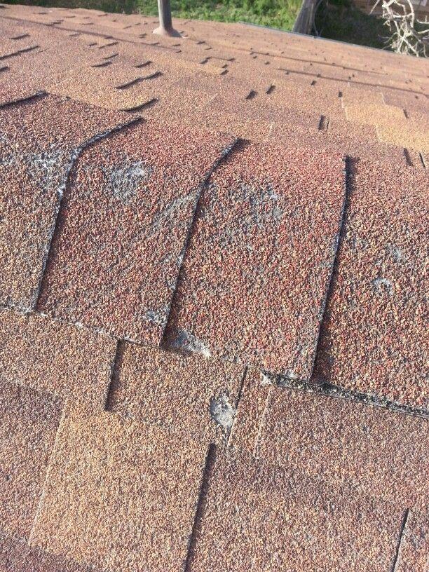 Hail Damage On Ridge Roof Repair Roof Damage Wind Damage