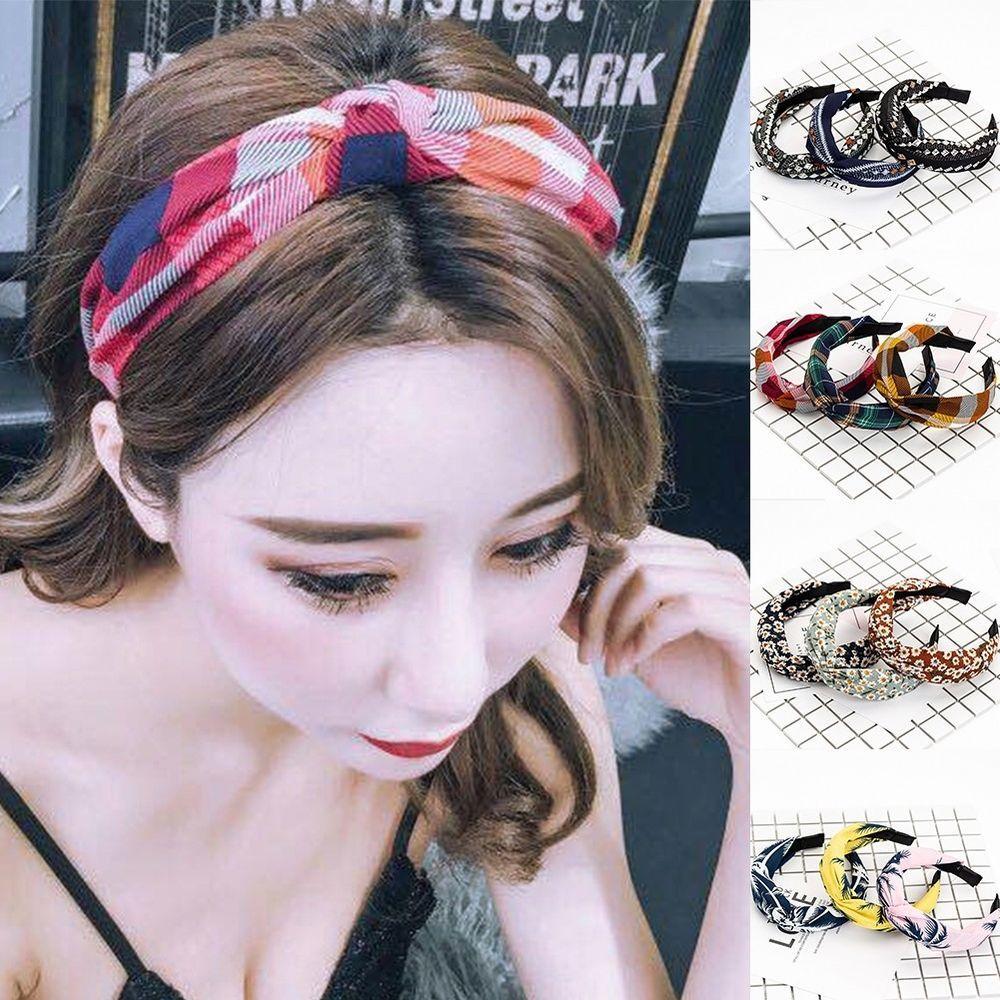 Sweet Bowknot Wide Hairband Fashion Hair Accessories for Women Headband