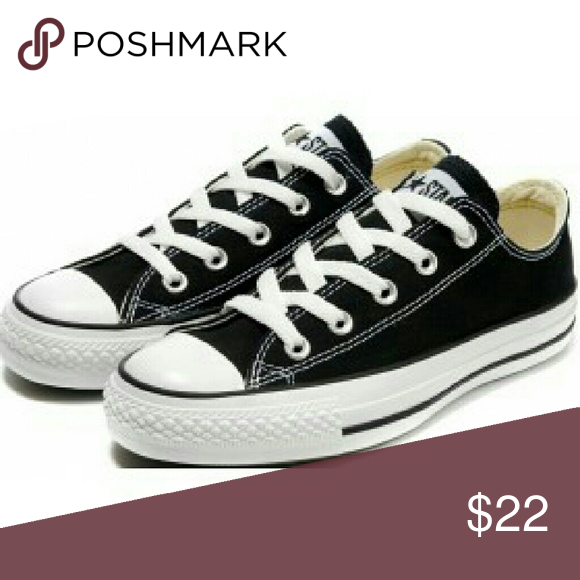 Women's Chuck Taylor's Converse sneakers Black with white laces.low top style All Stars.In good condition Converse Shoes Sneakers