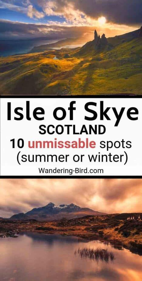 Perfect Isle of Skye Itinerary (with road trip map!) for 1, 2 or 3 days
