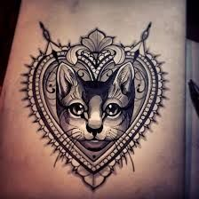 Image result for cat heart tattoo