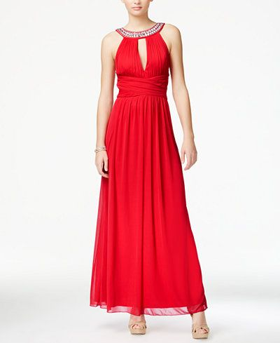Red Halter Prom Dress Trixxi