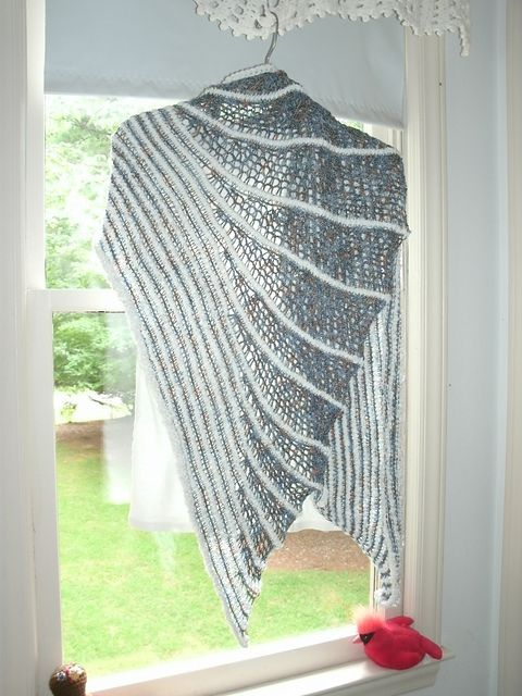 fast and easy asymetric tunisian crochet shawl, inspired by two ...