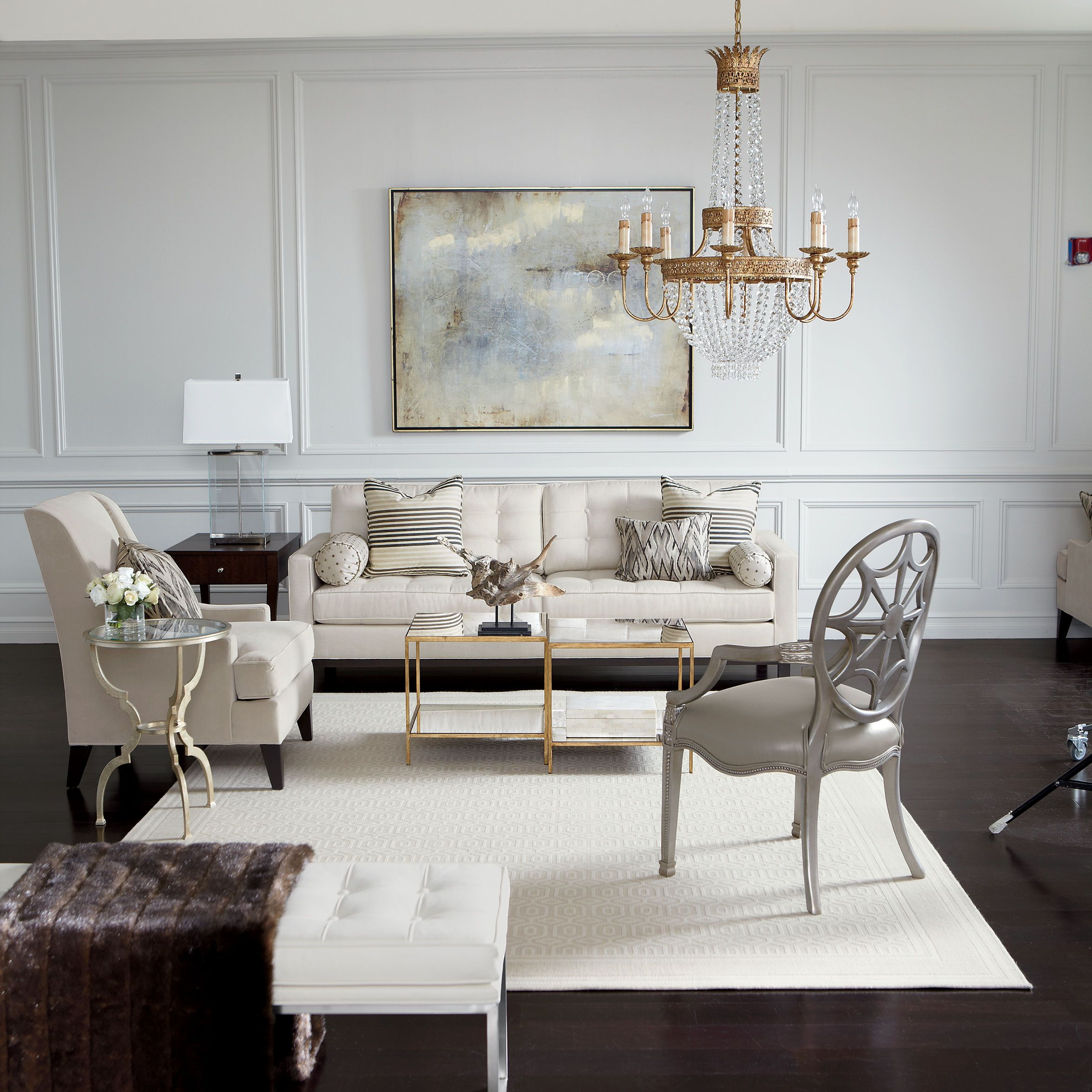Ethan Allen Living Rooms From Our Elegance Lifestyle Notice The Mix Of Metals