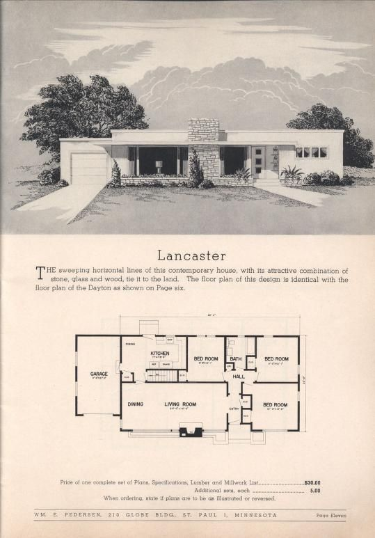Practical Homes 10th Ed Wm E Pedersen Free Download Borrow And Streaming Internet Archive Mid Century Modern House Plans Vintage House Plans Modern House Plans
