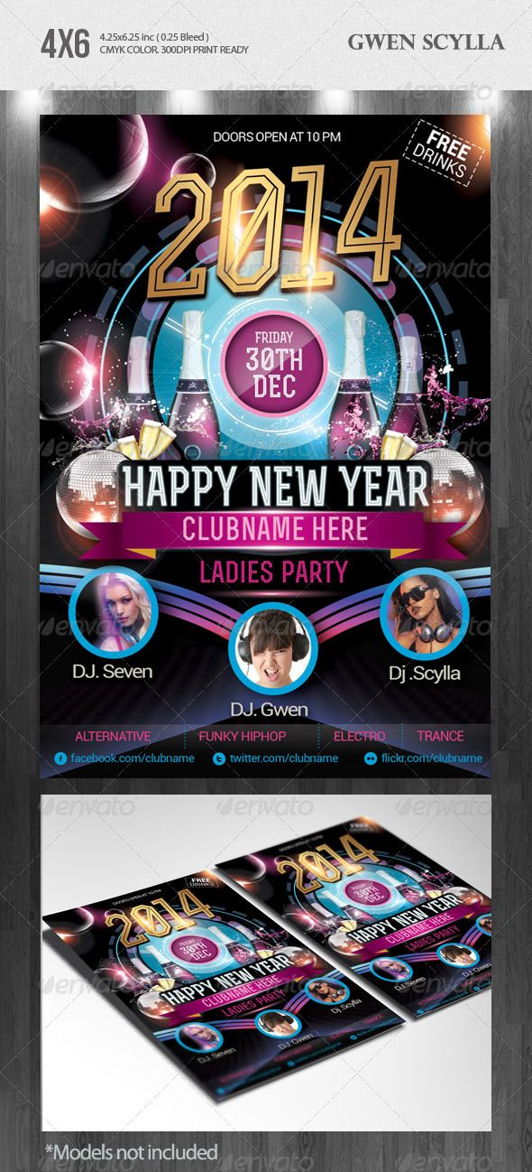 Flyer Samples For An Event Happy New Year 2014 Djs Event Flyer Templates  Event Flyer .