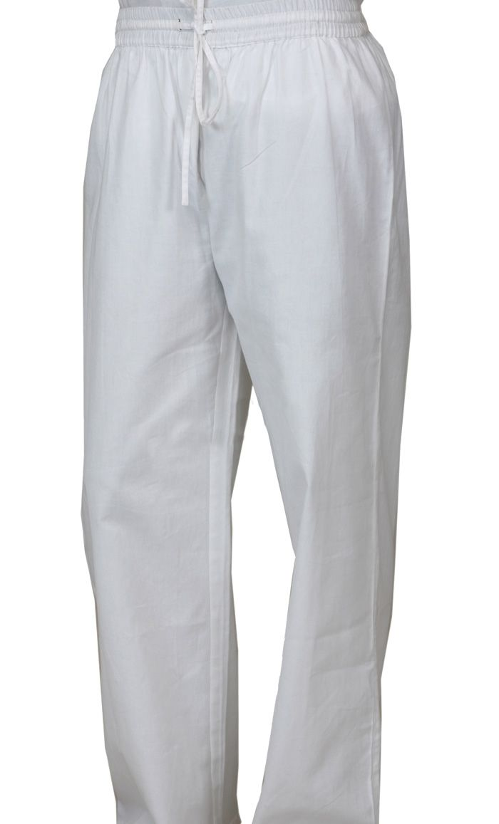 White pants for men great for wearing with kurtius or dishdashs