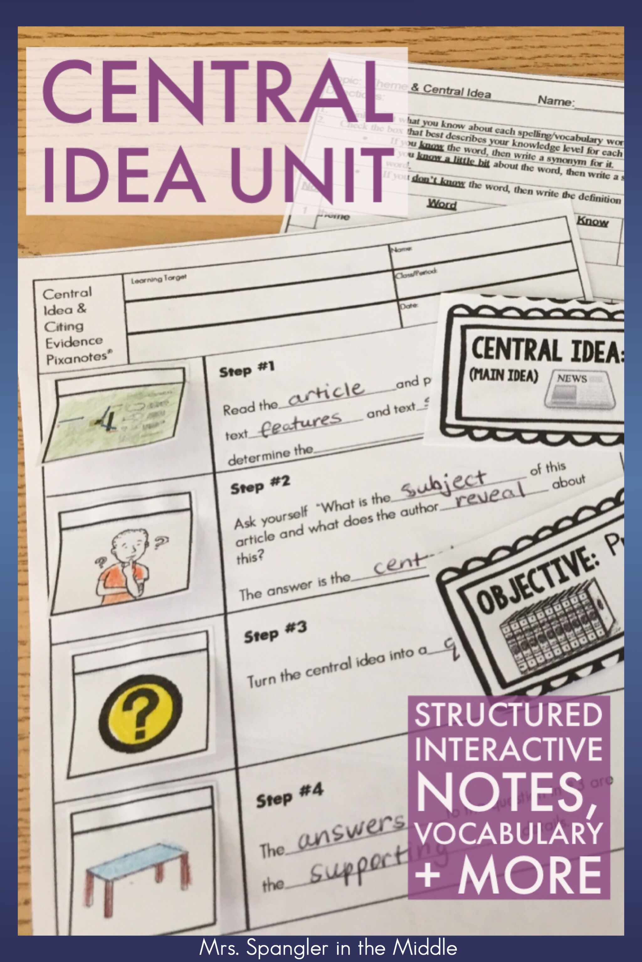 Central Idea Main Idea Central Message Unit Bundle