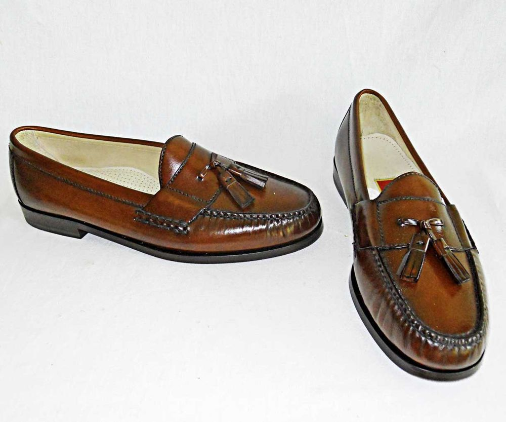 Cole Haan Pinch Tassele Tassel 10E Brown NOS New Old Stock Mens Loafers with Box…