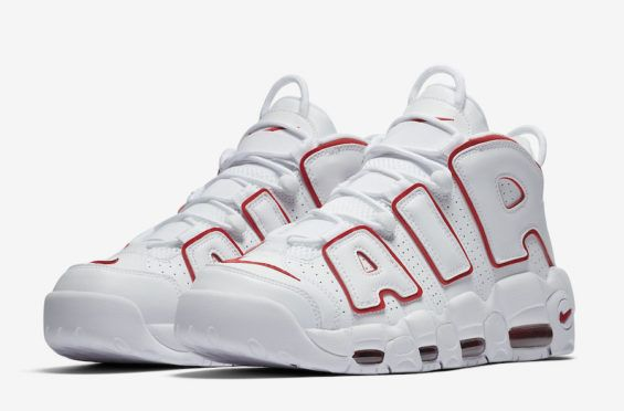 hot sale online ccc80 b70d8 Official Images Nike Air More Uptempo White Varsity Red Nike Heren, Nike  Outfits,