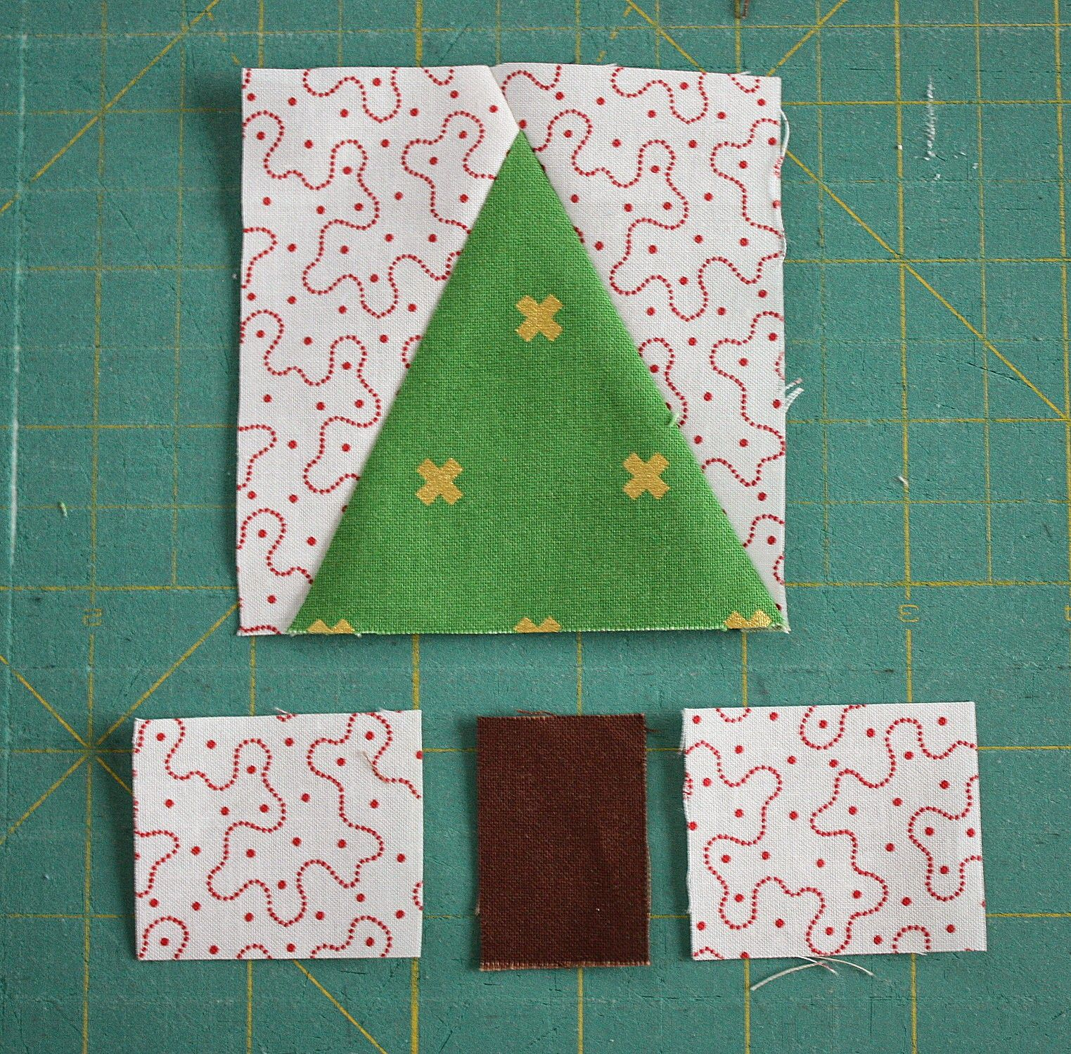 Patchwork Christmas Tree Quilt Blocks Christmas Tree