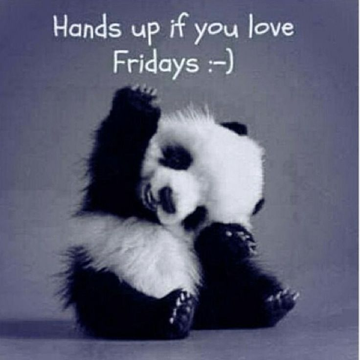 Hands up if you love Fridays!