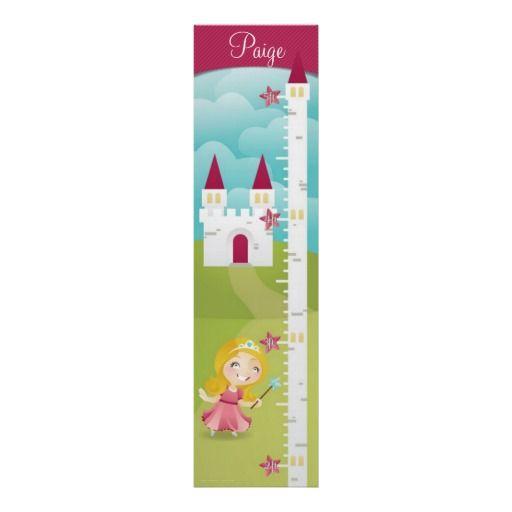 Princess Growth Chart Poster $20.70