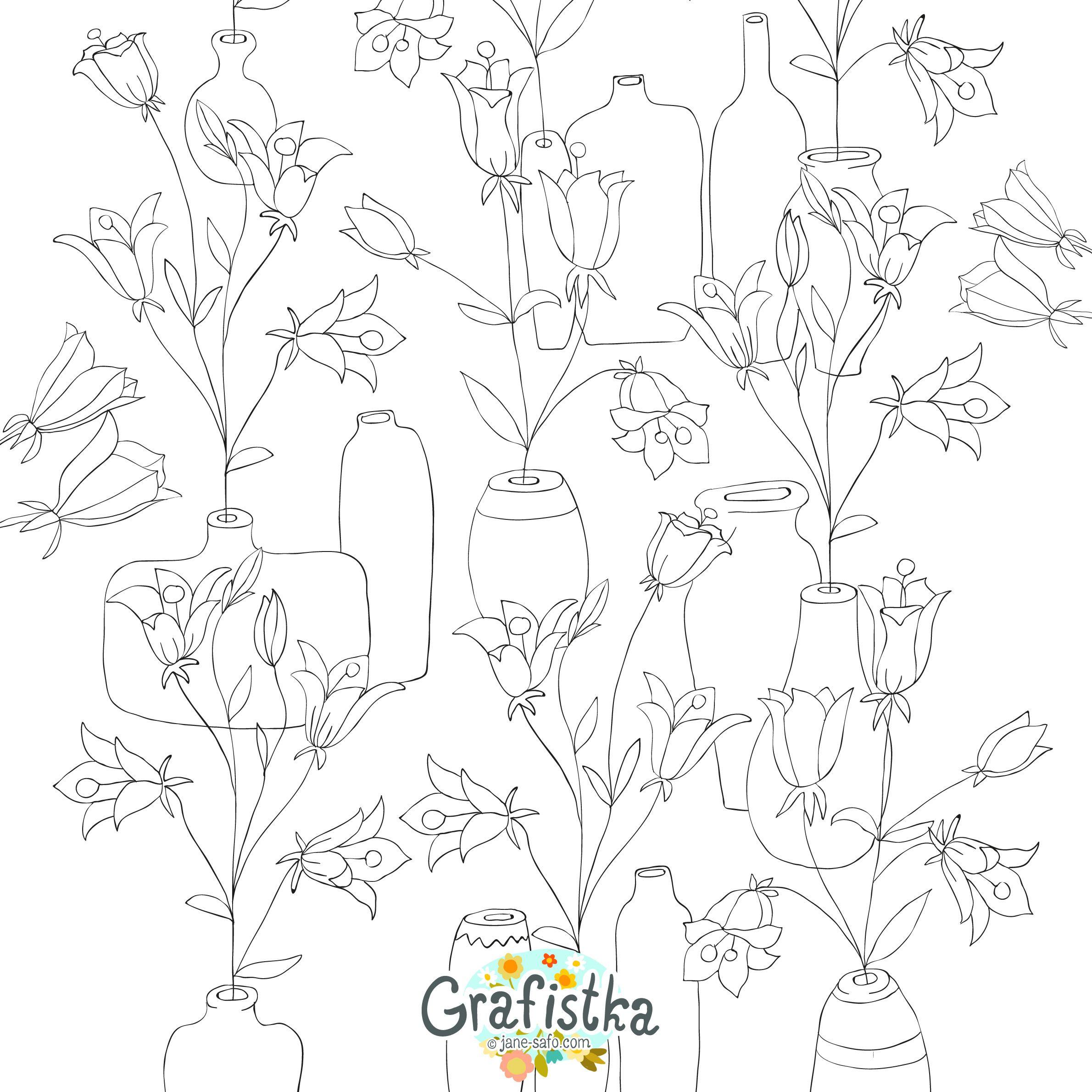 Скачать и распечатать раскраску цветы zenart pinterest