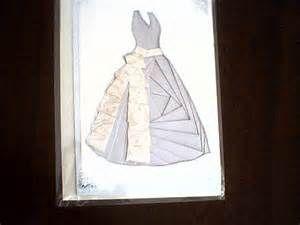 iris folding dress card