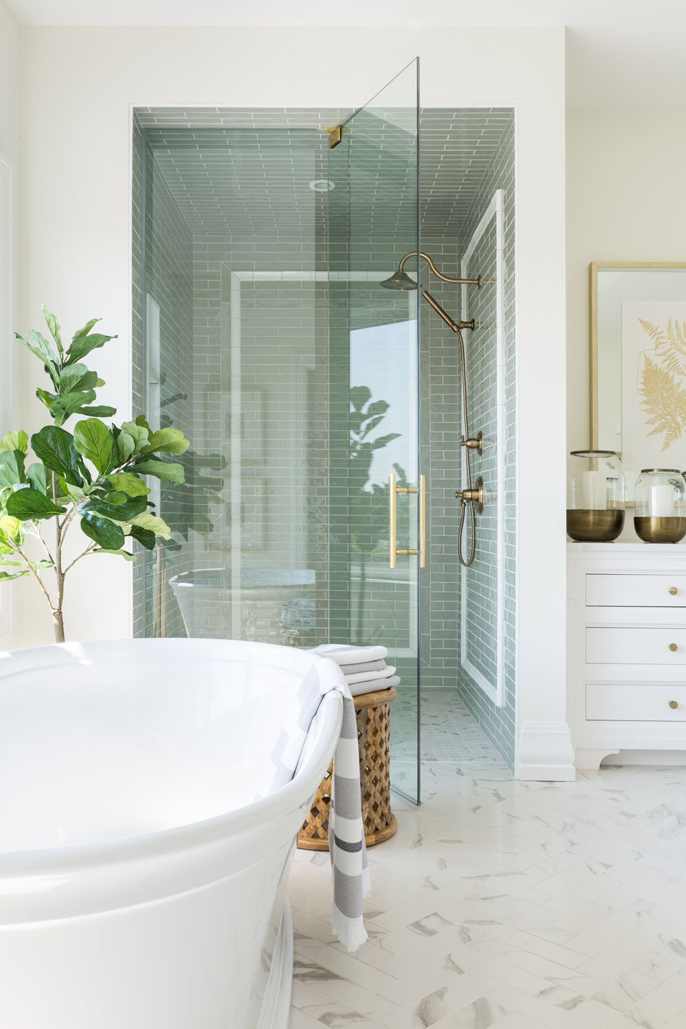 A Dreamy Modern Meets Traditional Show Home In Calgary Bathroom