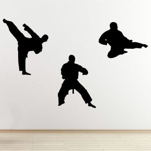 Martial Arts Wall Decals - Pack of 3 stickers & Martial Arts Wall Decals - Pack of 3 stickers | SVG | Pinterest ...