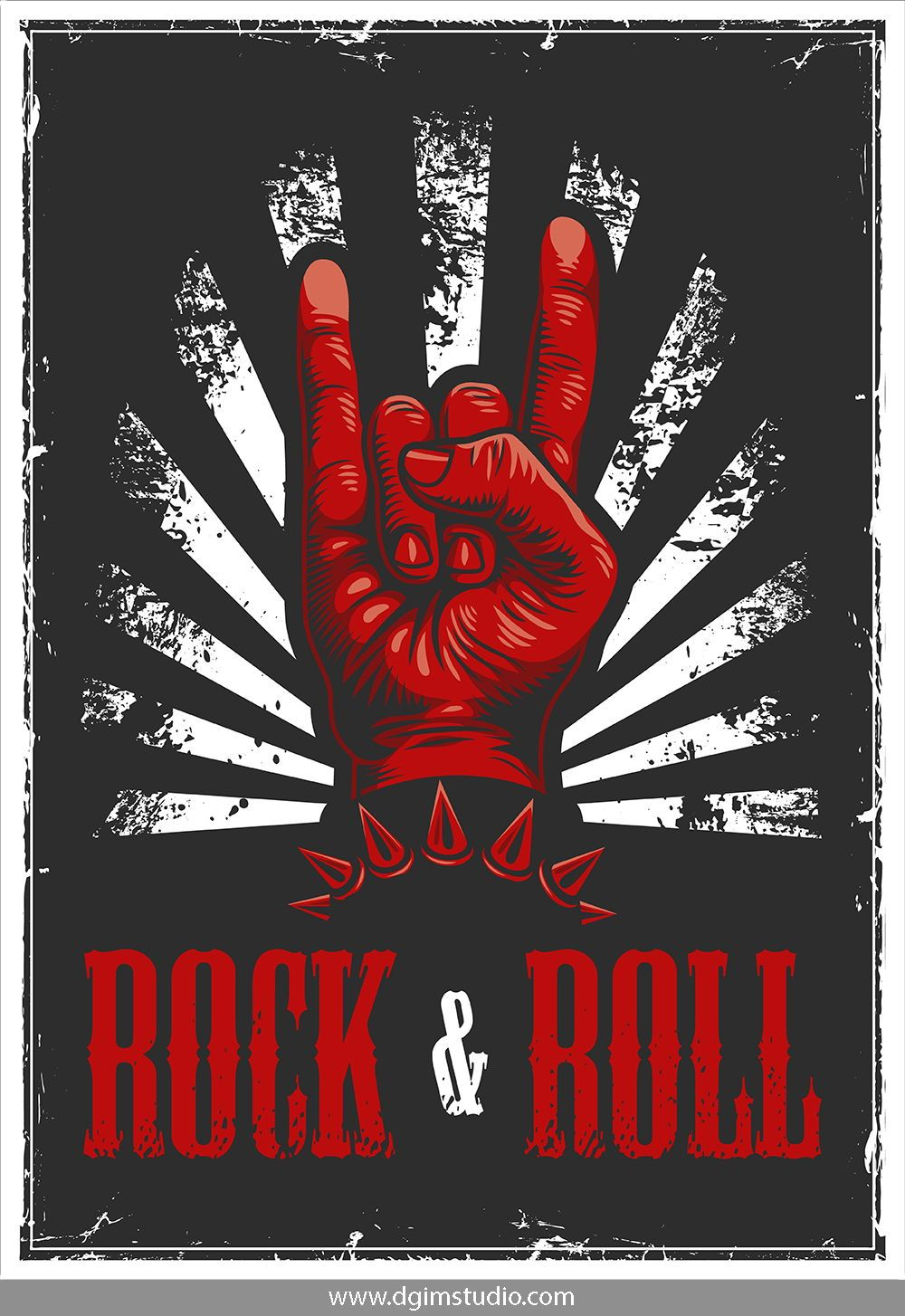 Rock Roll Designs Bundle Rock And Roll Sign Rock N Roll Art Rock Band Posters