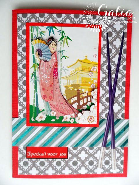 Yoltzin handmade cards: Tarjeta inspiracion Oriental