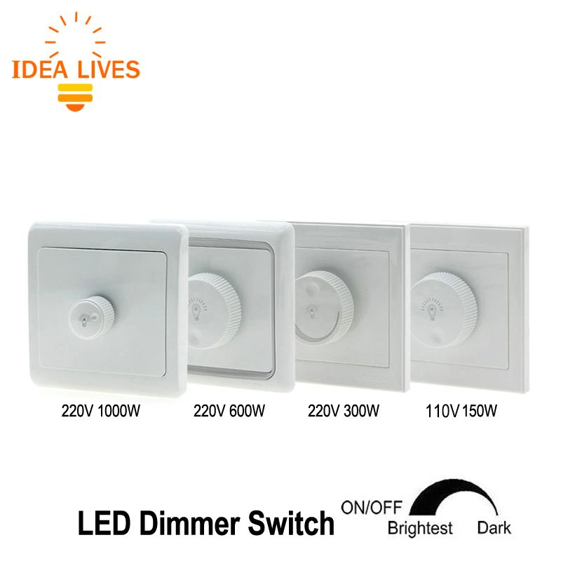 Led Dimmer 220 V 300 W 600 W 1000 W Helderheid Dimmers Voor Verstelbare Led Verlichting Lampen Led Dimmer Led Dimmer Switch Dimmer Switch