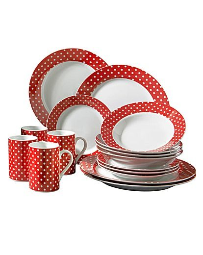 Coordinated Kitchenwares - Classic Red Polka Dot Crockery  sc 1 st  Pinterest & Coordinated Kitchenwares - Classic Red Polka Dot Crockery ...