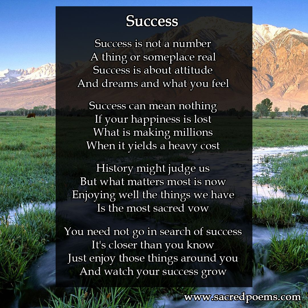 Success Is An Inspirational Poem By Robert Longley He Has Written Several Books Of Poetry For World Events Spor Inspirational Poems Sports Poems Poetry Books